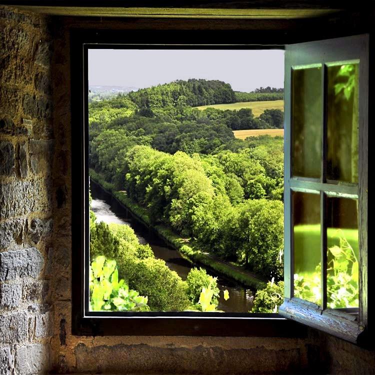 Fen tre ouverte sur la campagne photo et image visions for Fenetre ouverte sur paysage