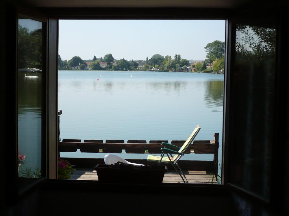 Fenêtre sur étang