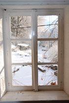 Fenêtre sur neige