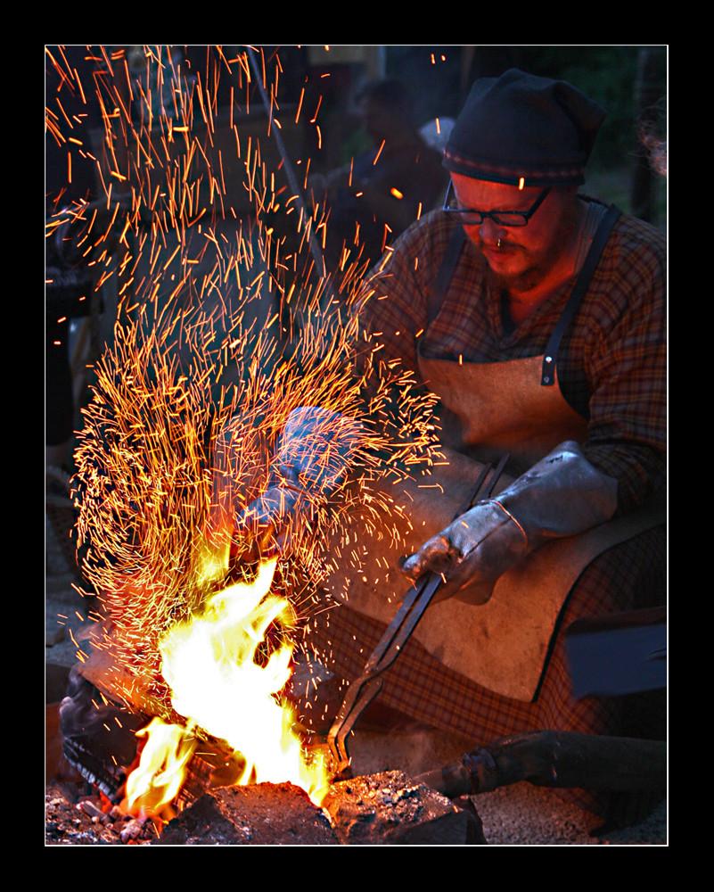 fer dans le feu