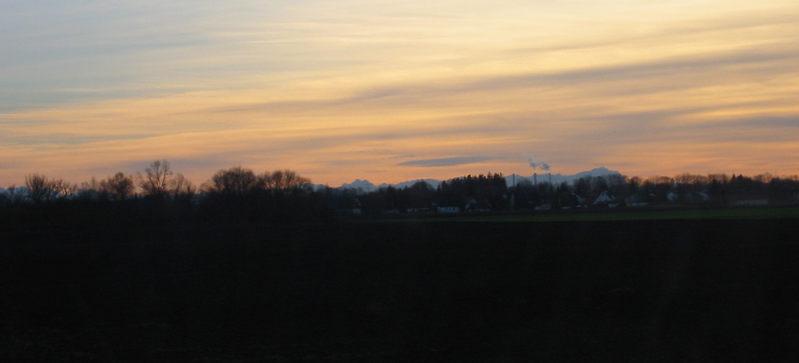 ...ferne Alpen...