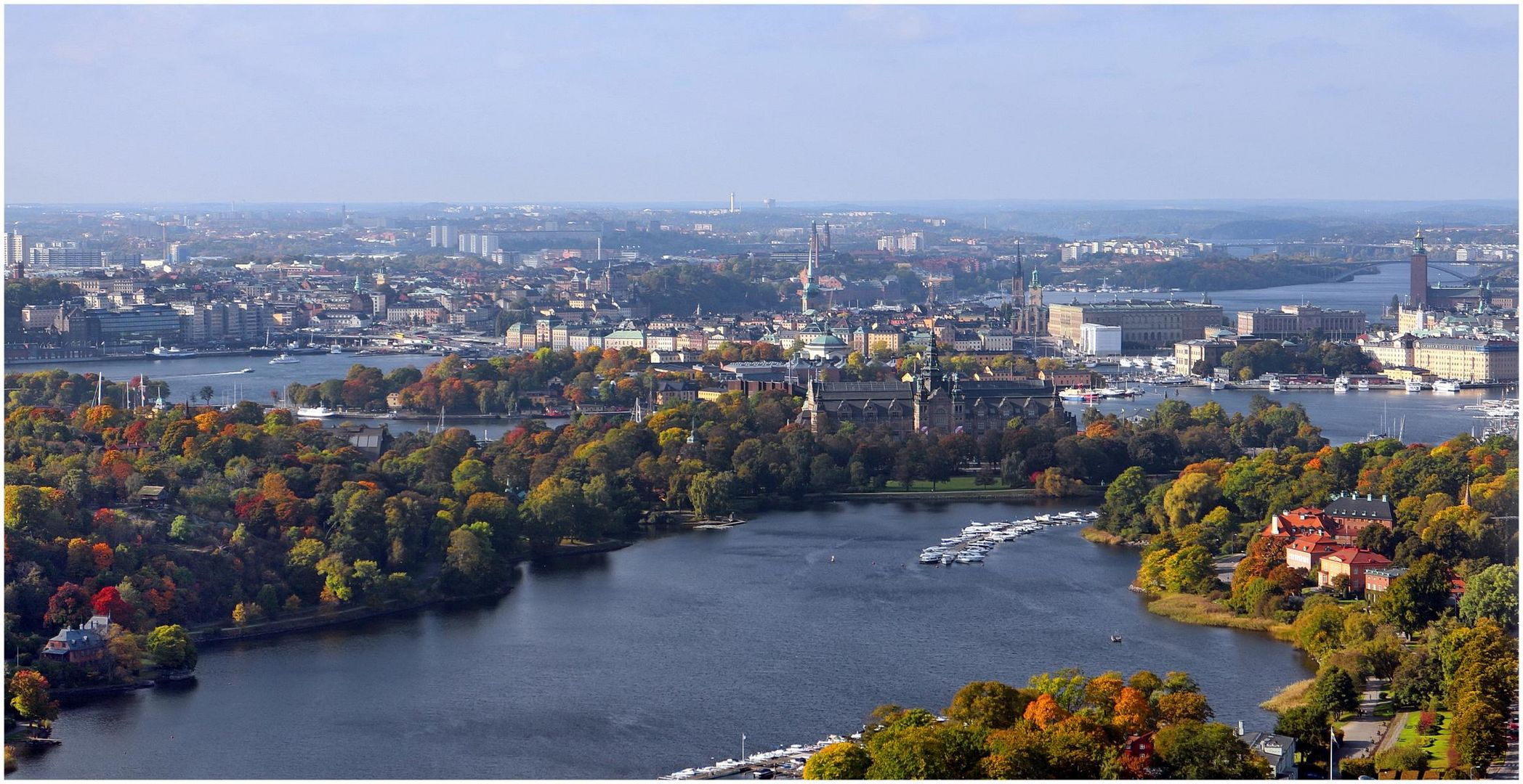 Fernsicht auf Stockholm