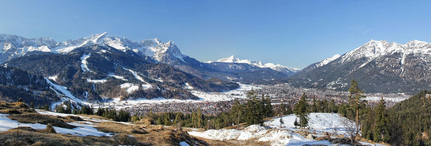 Fernsicht ber garmisch partenkirchen foto bild - Garmisch partenkirchen office du tourisme ...