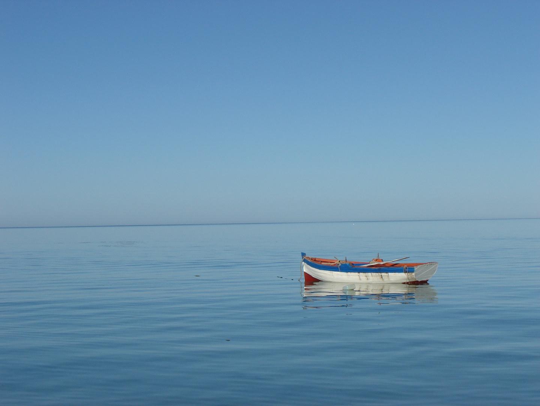 Fernweh - Boot auf dem Meer