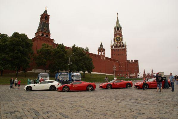 Ferrari sur la place rouge