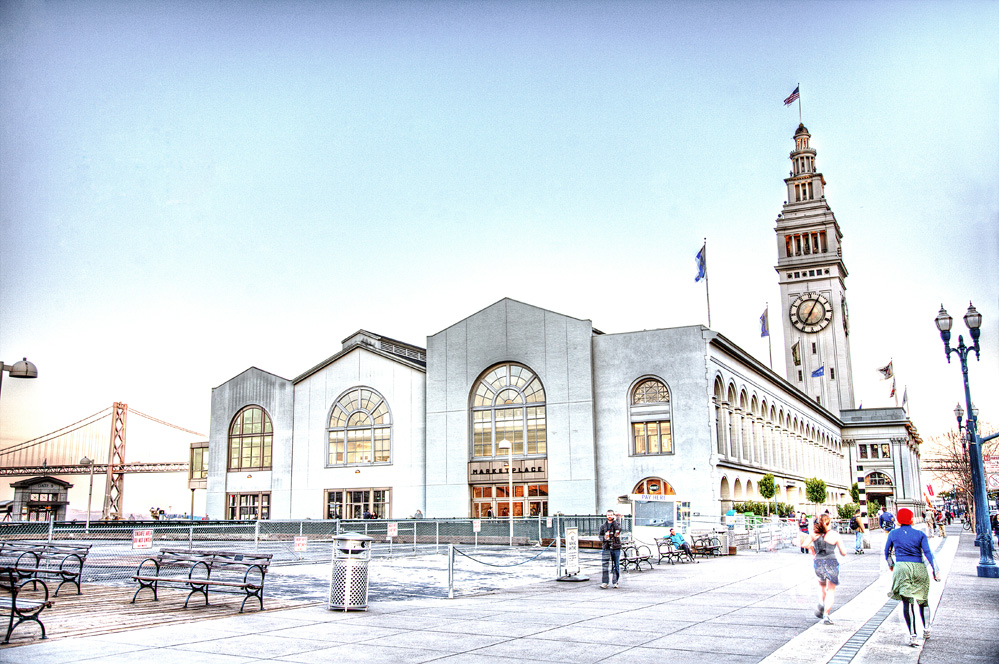 ferry building in san francisco hdr