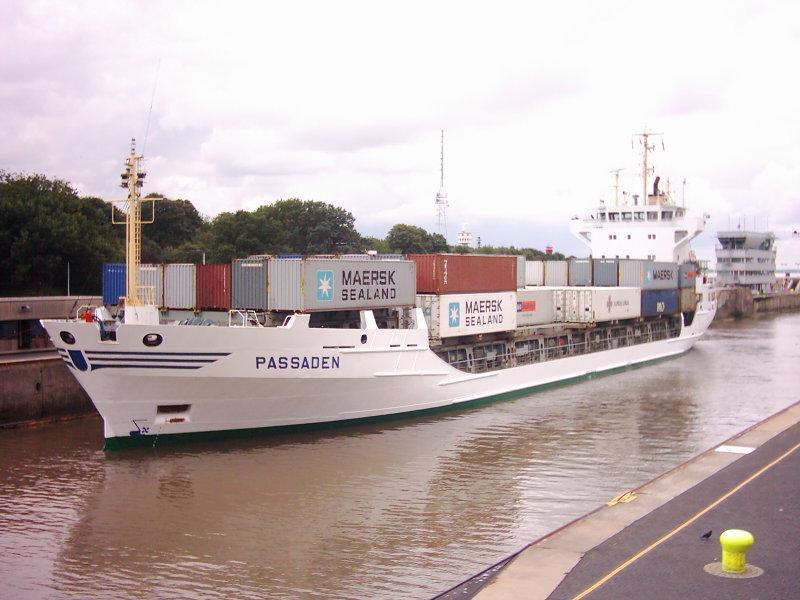 Fertig zum Abschleusen für die Weiterfahrt nach Kiel