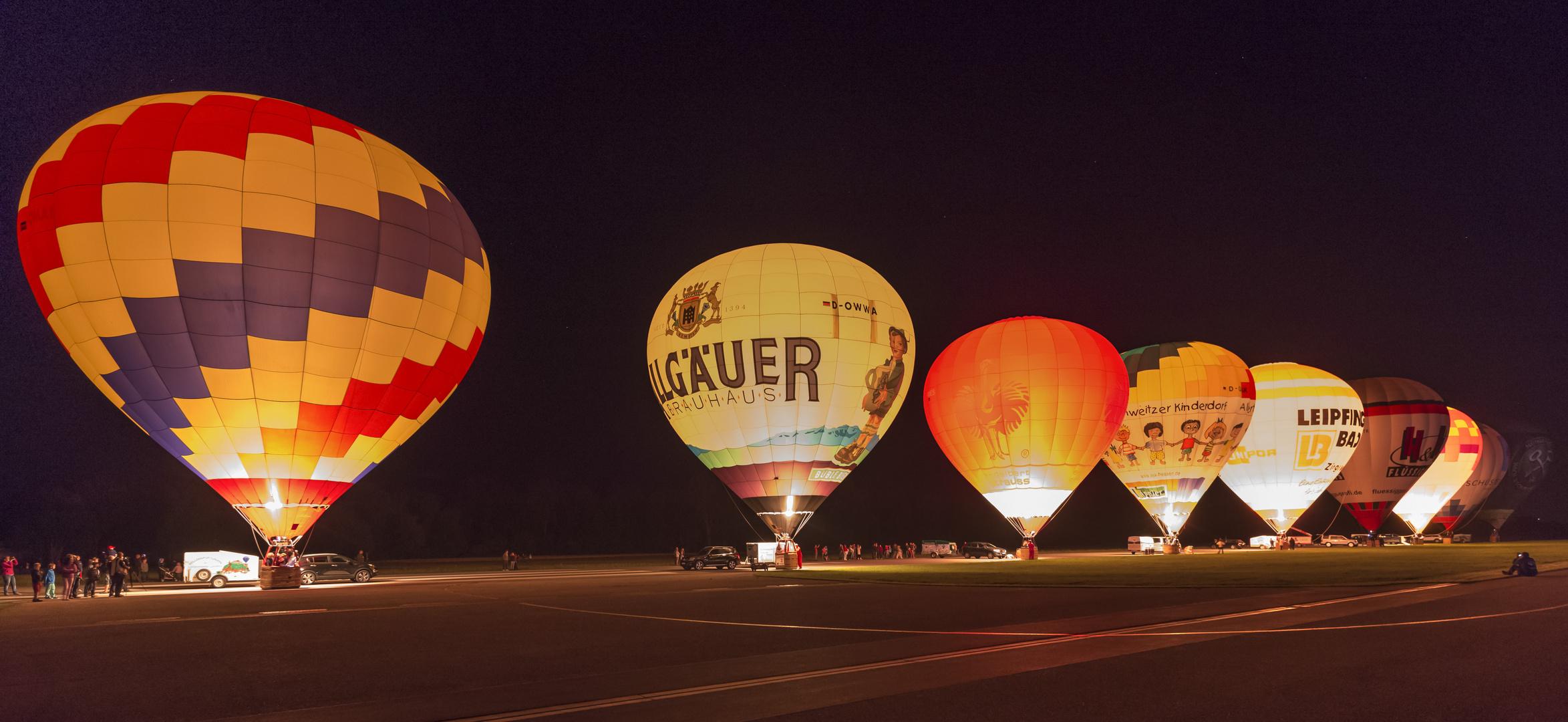 Fesselballonglühen bei Landshut