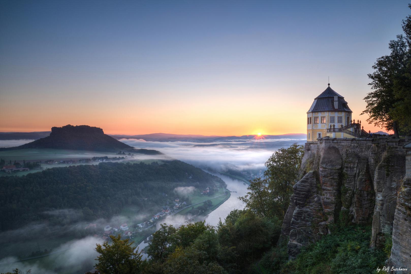 Festung Königstein am Morgen