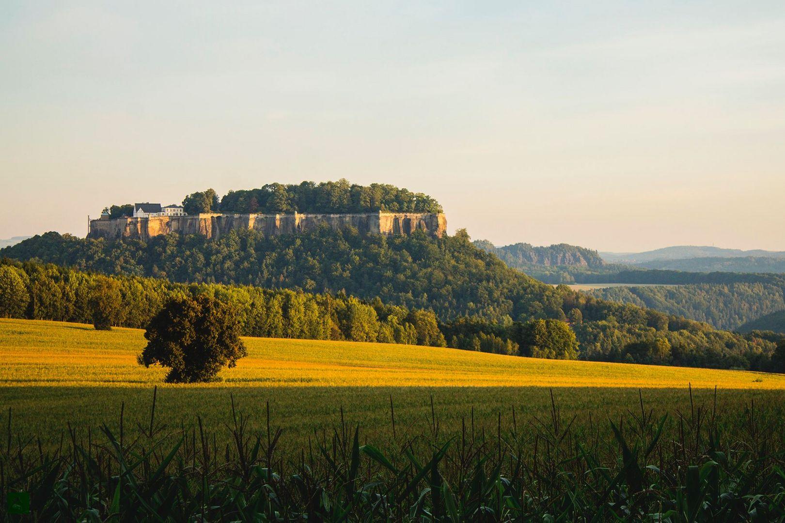 Festung Königstein bei Sonnenaufgang