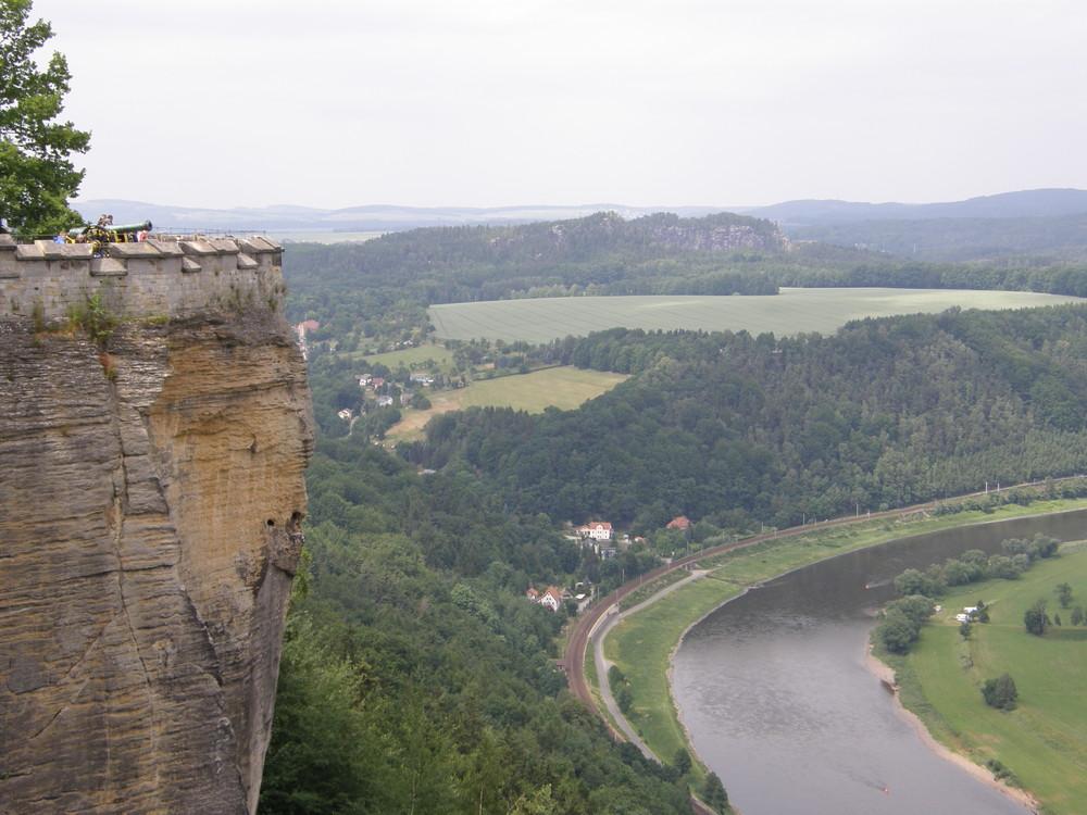 Festung Königstein und die Elbe