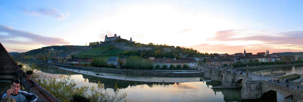 Festung Marienberg über dem Main