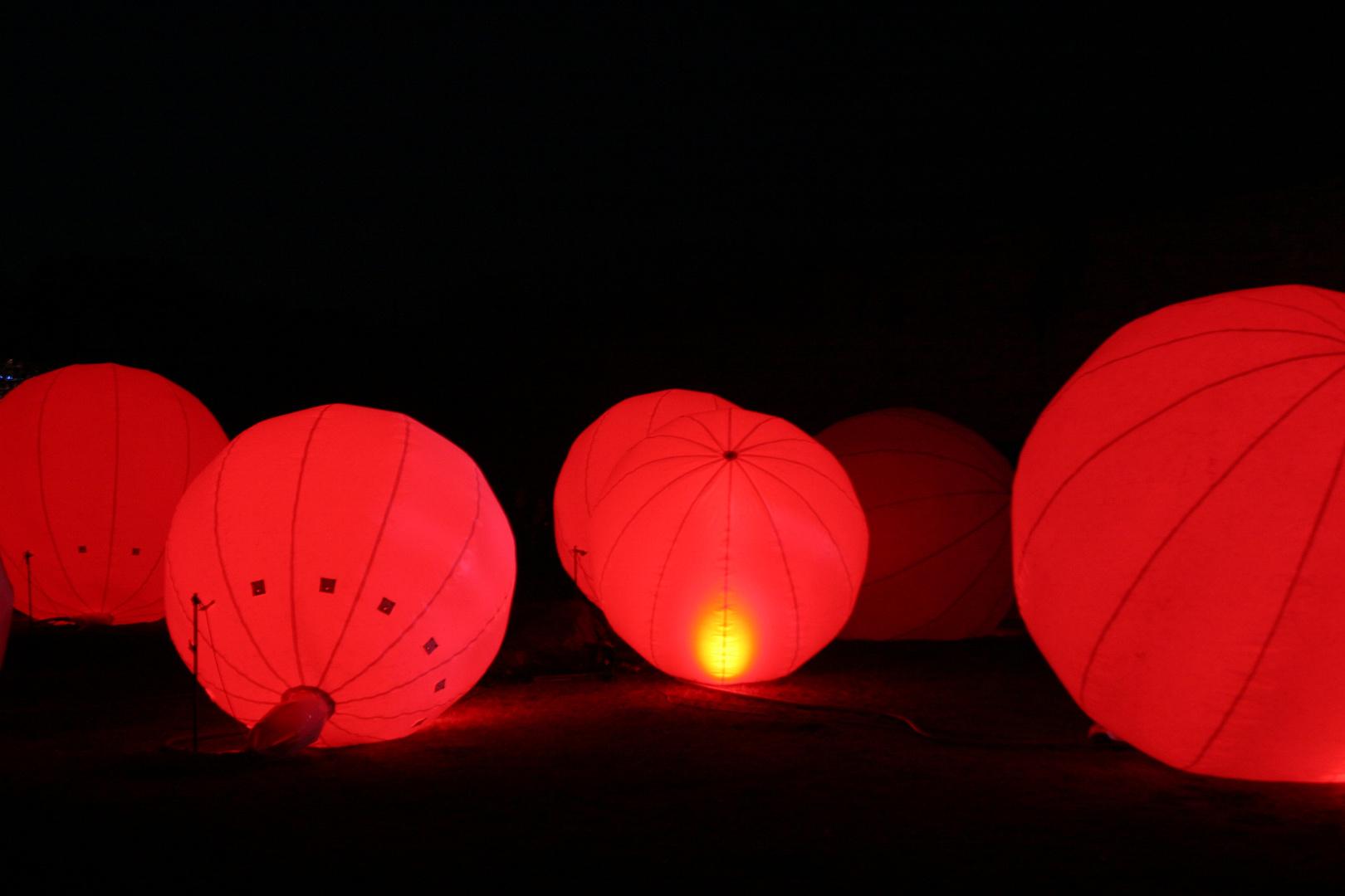 Festungsleuchten 2014 - Rote Ballons