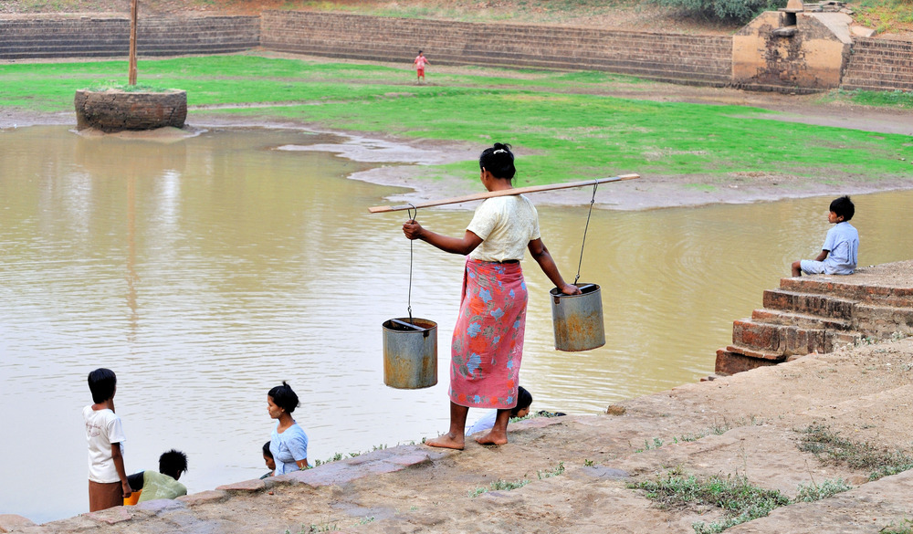 Fetching water 4