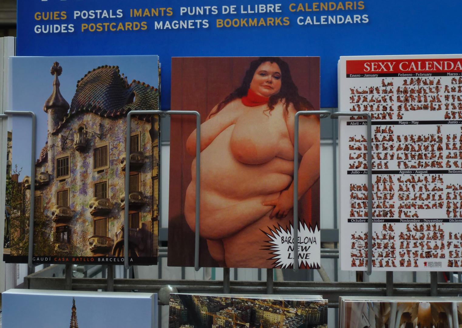 Fettnapf Postkartenkauf
