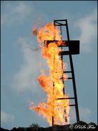 Feuer am Turm