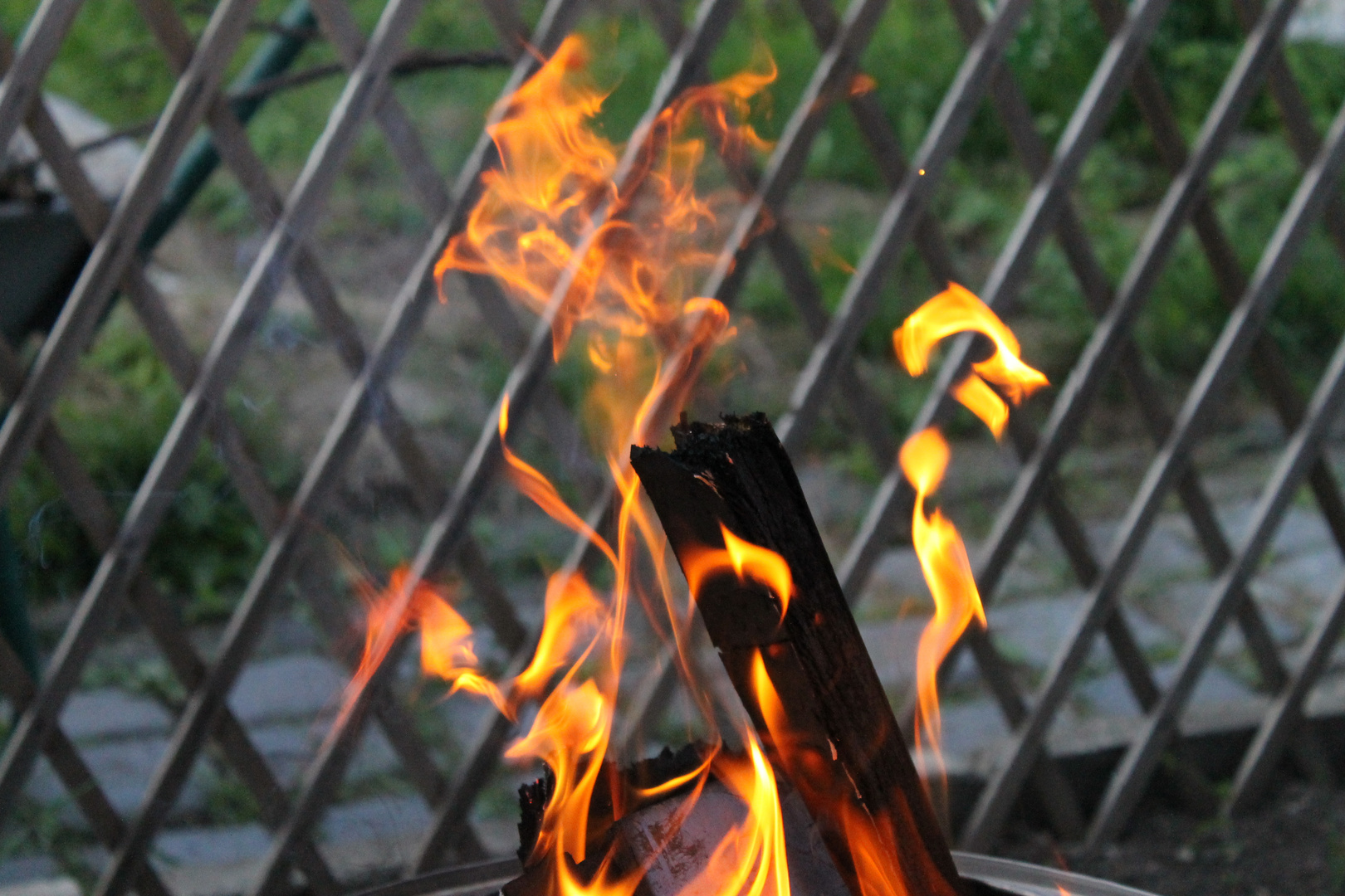 Feuer im Feuerkorb