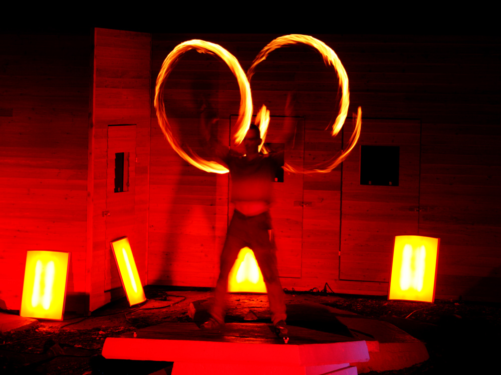 Feuer-Jongleur