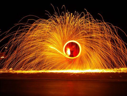 Feuer-Spektakel