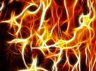 Feuer und Flamme abstrakt