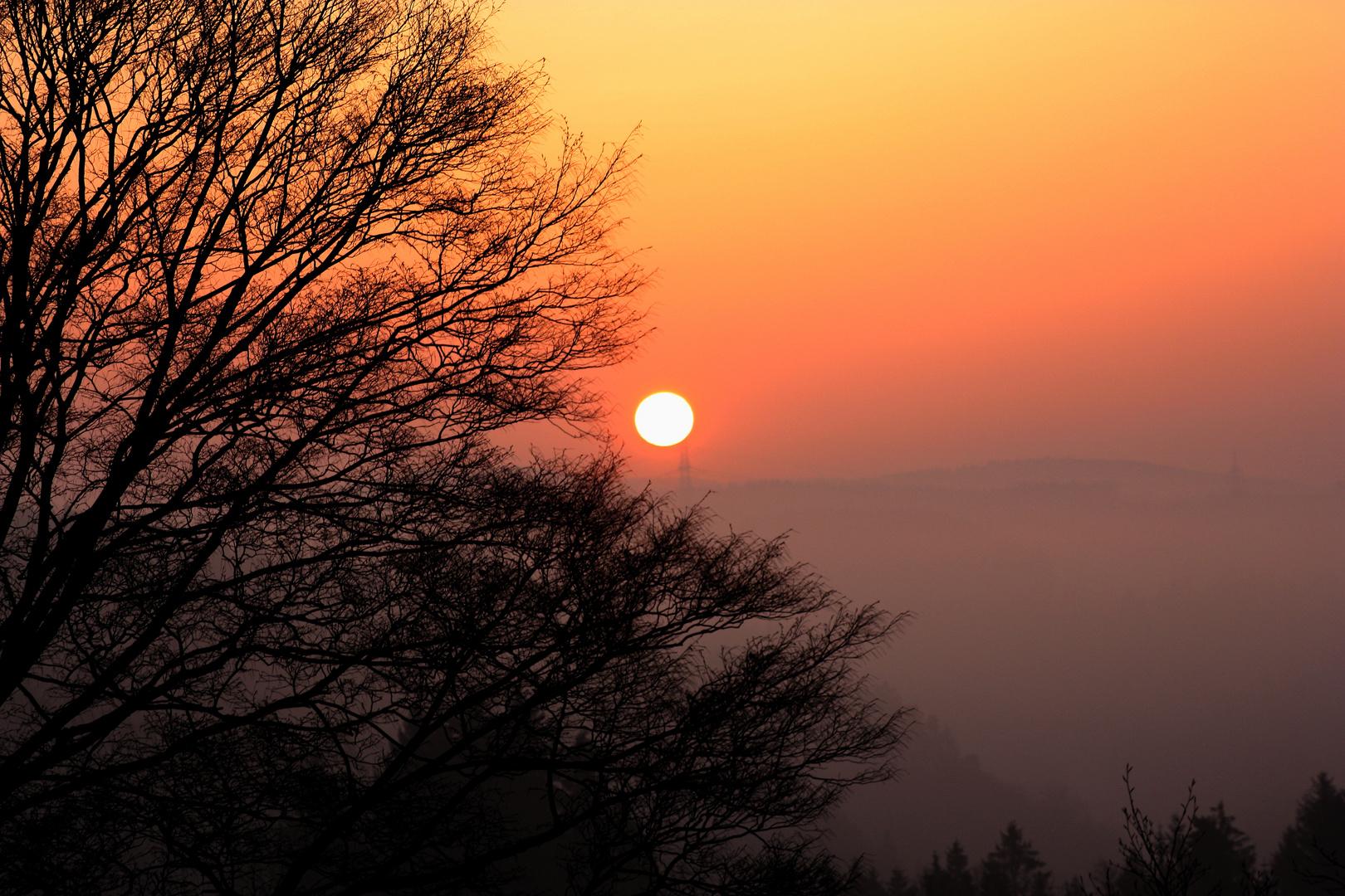 Feuerball am Morgen