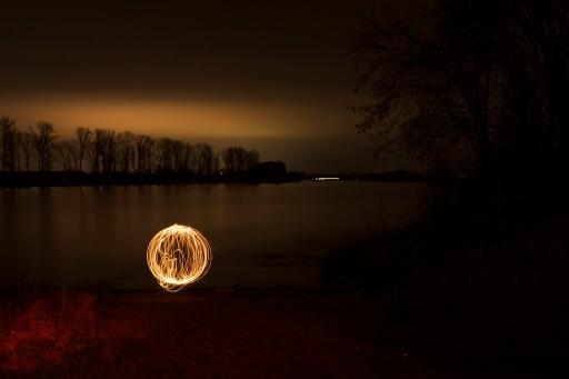 Feuerball am Rhein