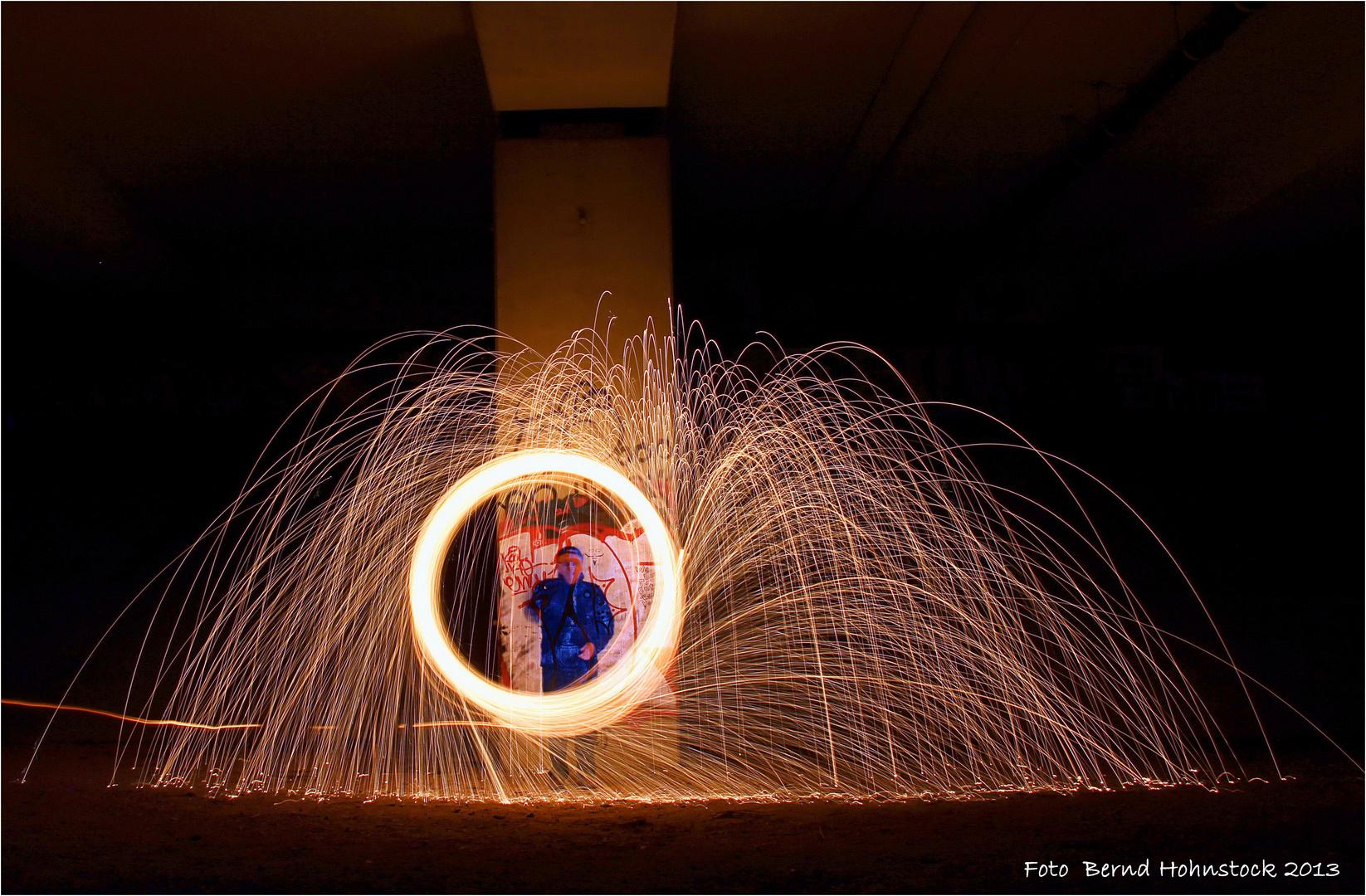 Feuerball, mein erster Versuch als Akteur .....
