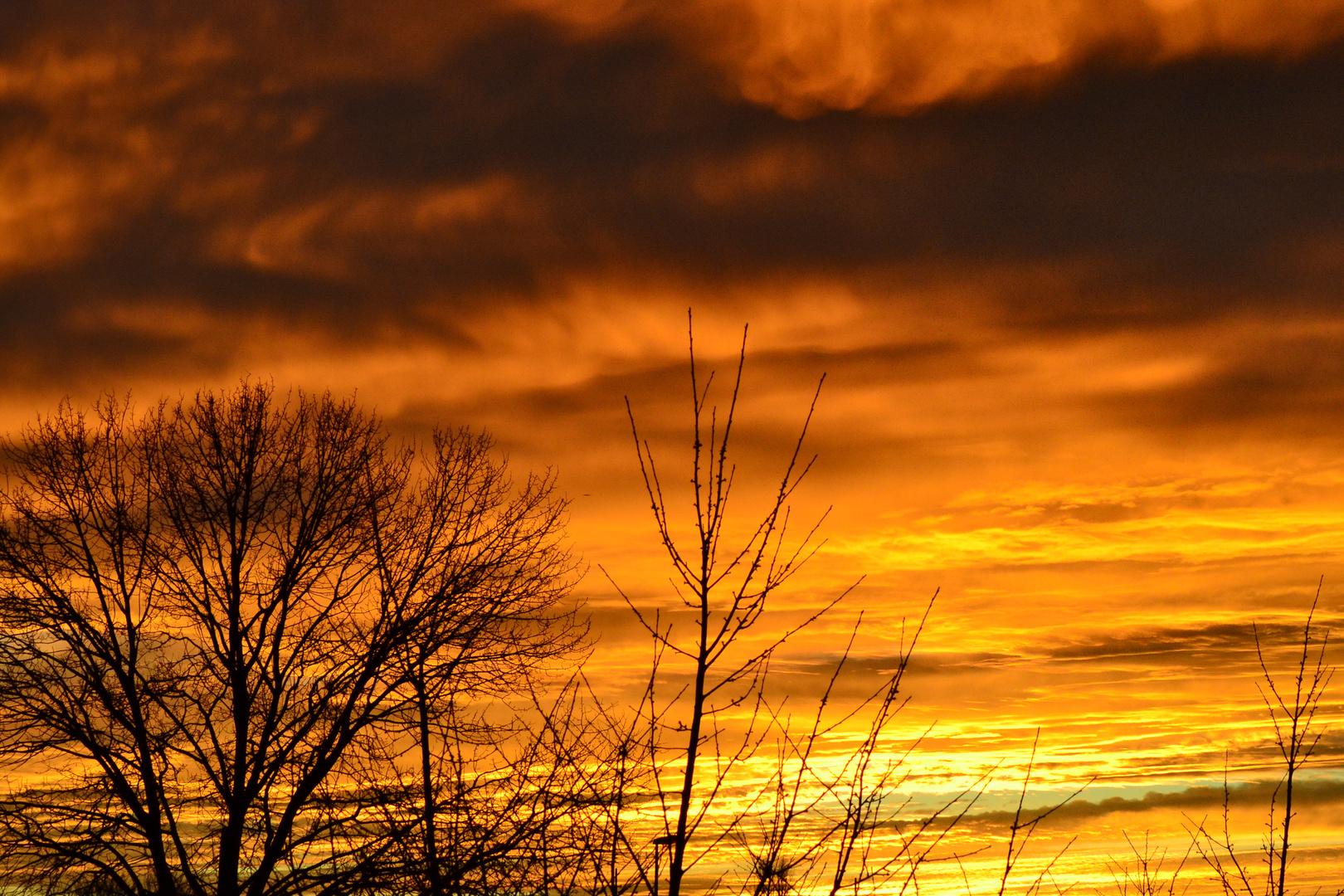 Feuerland Sonnenuntergang