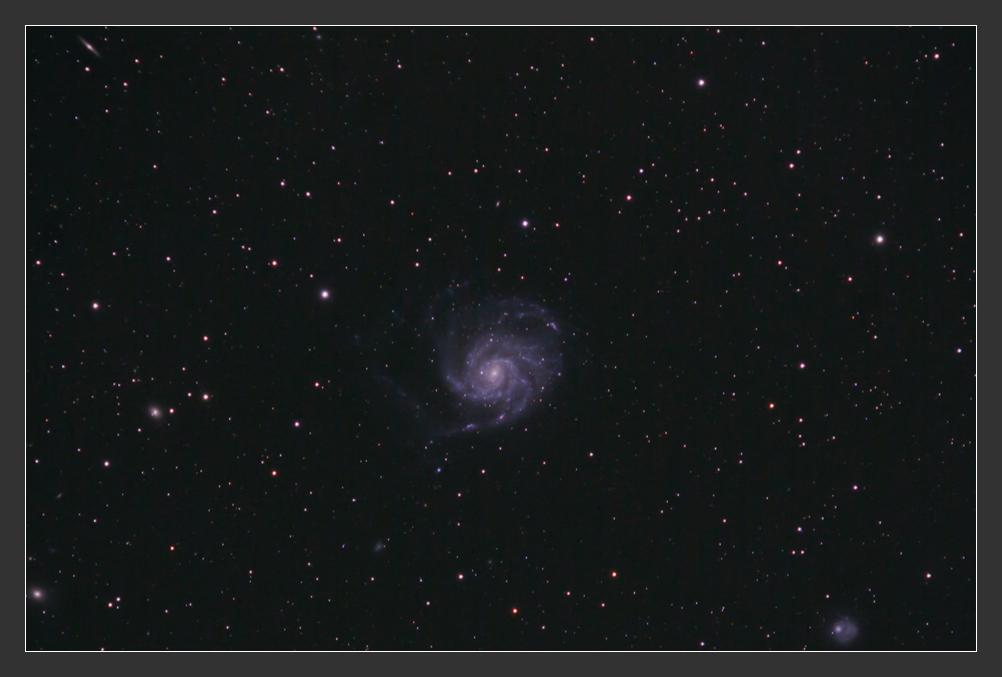 Feuerrad am Frühlingshimmel - M101