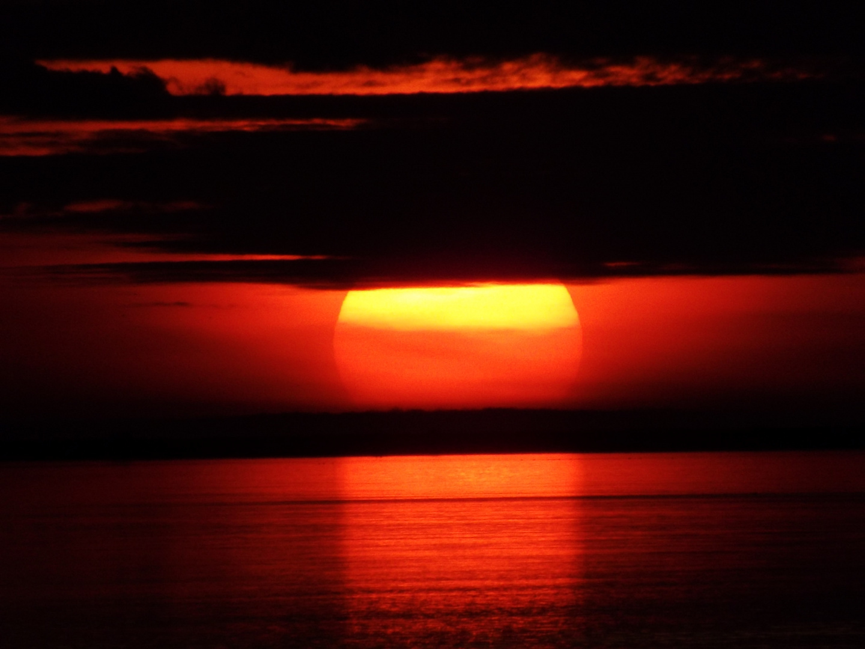 feuerrote Sonne