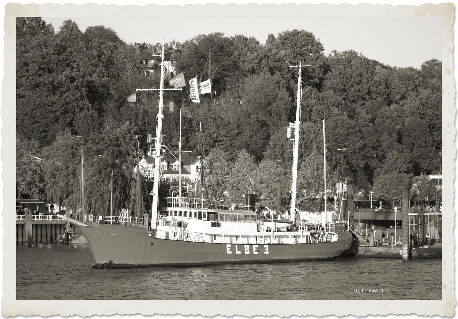 Feuerschiff Elbe3 im Museumshafen Övelgönne