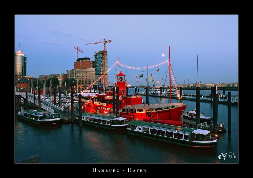 Feuerschiff im Hafen
