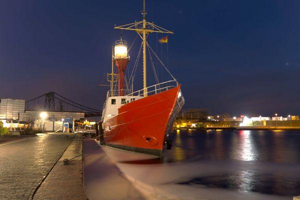 Feuerschiff Weser bei Nacht 2