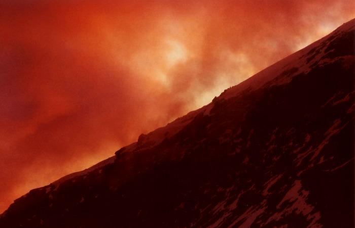 Feuersturm in den Walliser Alpen