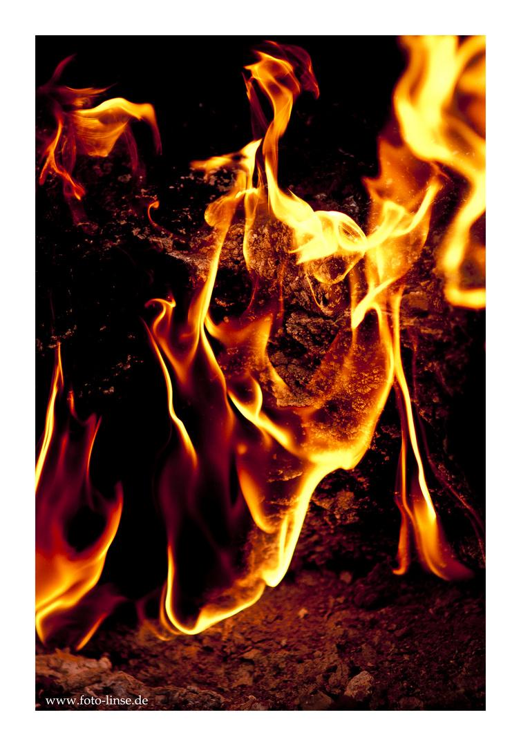 Feuerteufel in Chimaera Türkei