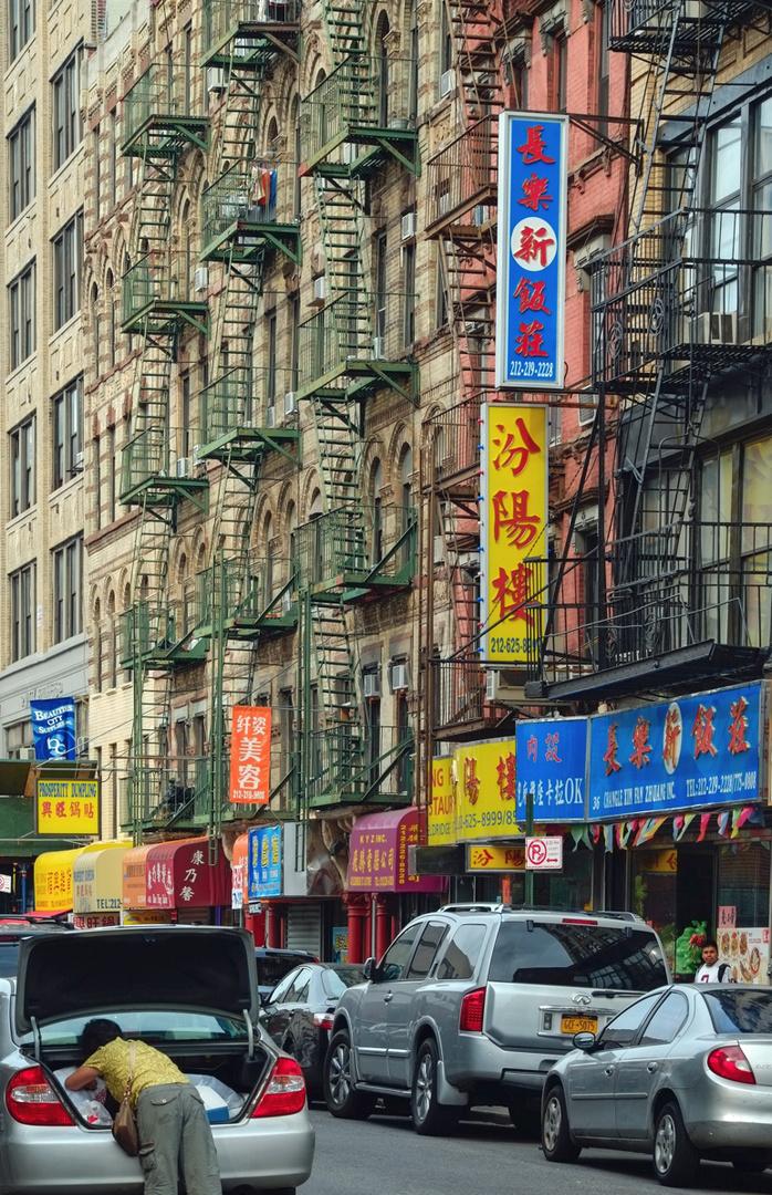 Feuertreppen in der Greene Street - Chinatown