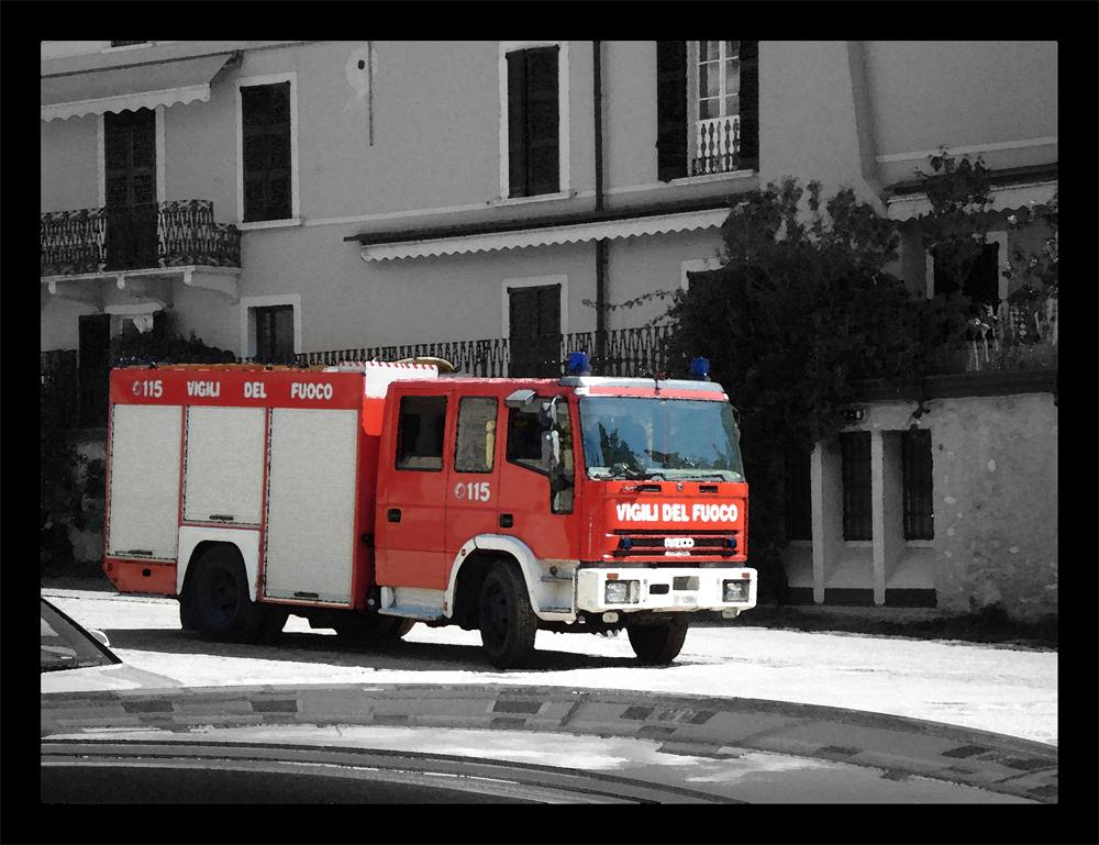 """Feuerwehr am """"Largo di Garda"""""""