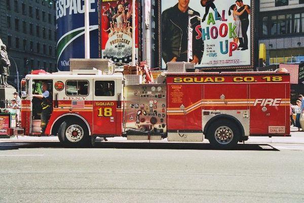 Feuerwehr auf dem Times Square