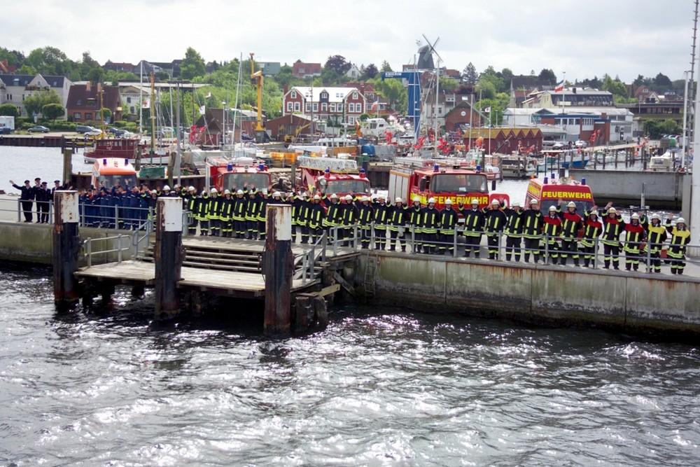 Feuerwehr Laboe am Hafen