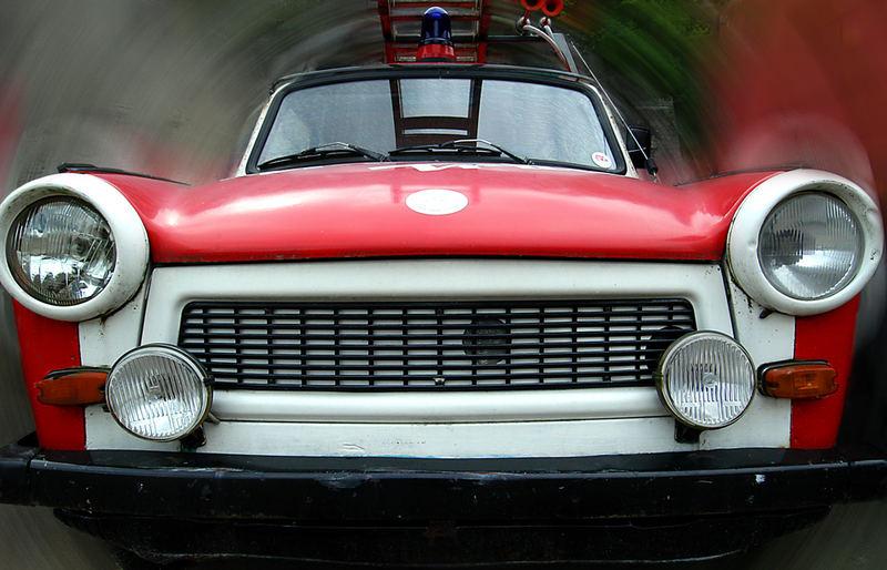 Feuerwehr-Trabbi