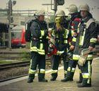 Feuerwehr zur Übung