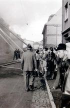 Feuerwehreinsatz um 1950