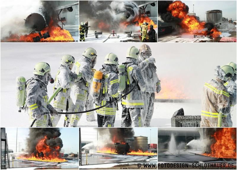 Feuerwehrleute beim Training