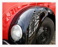 Feuerwehroltimerkotflügelspiegelreflex