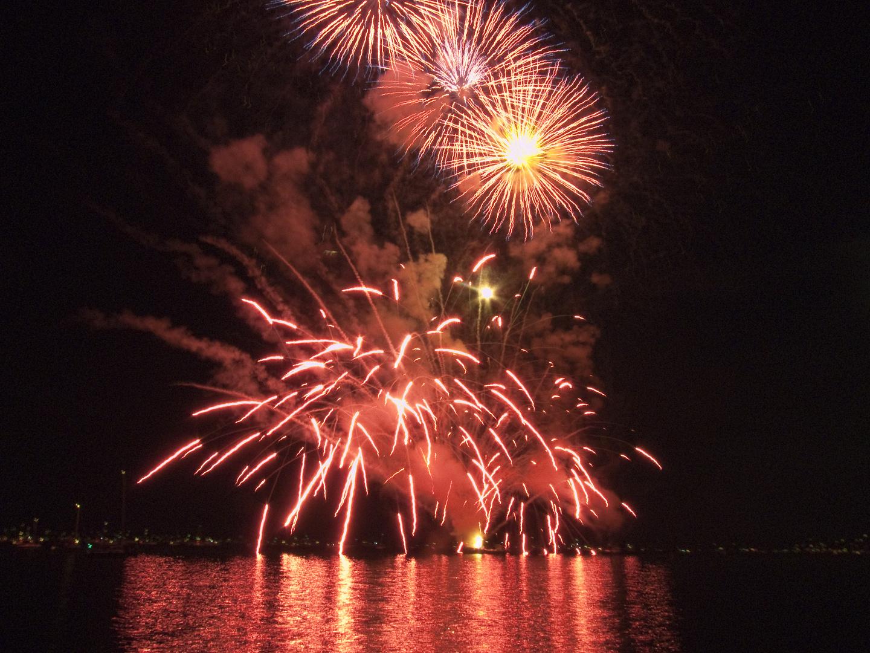 Feuerwerk am Bodensee (August 2011)