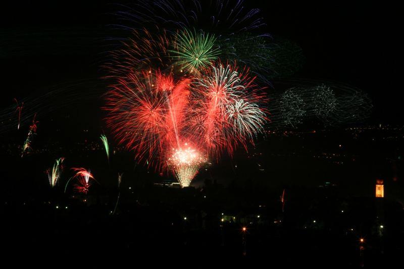 Feuerwerk am Bodenseee (Kressbronn)