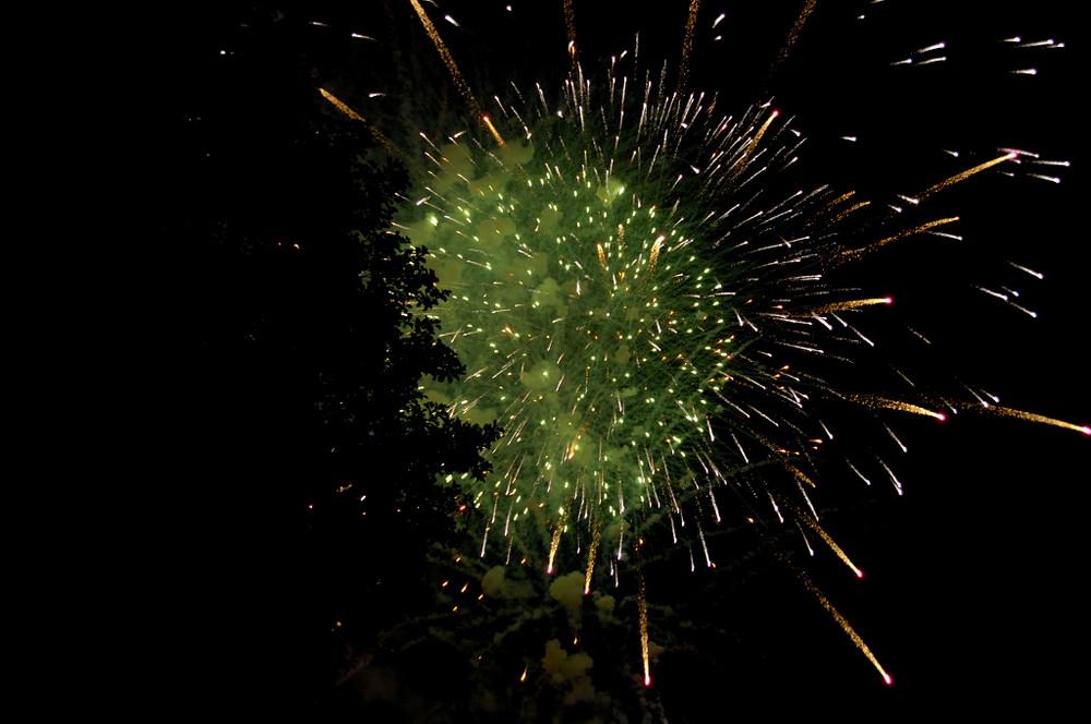 Feuerwerk am Heisterberger Weiher