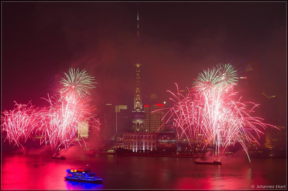 Feuerwerk am Huangpu