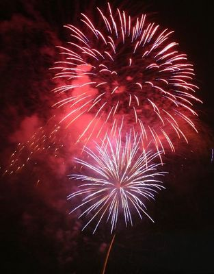 Feuerwerk am Rhein