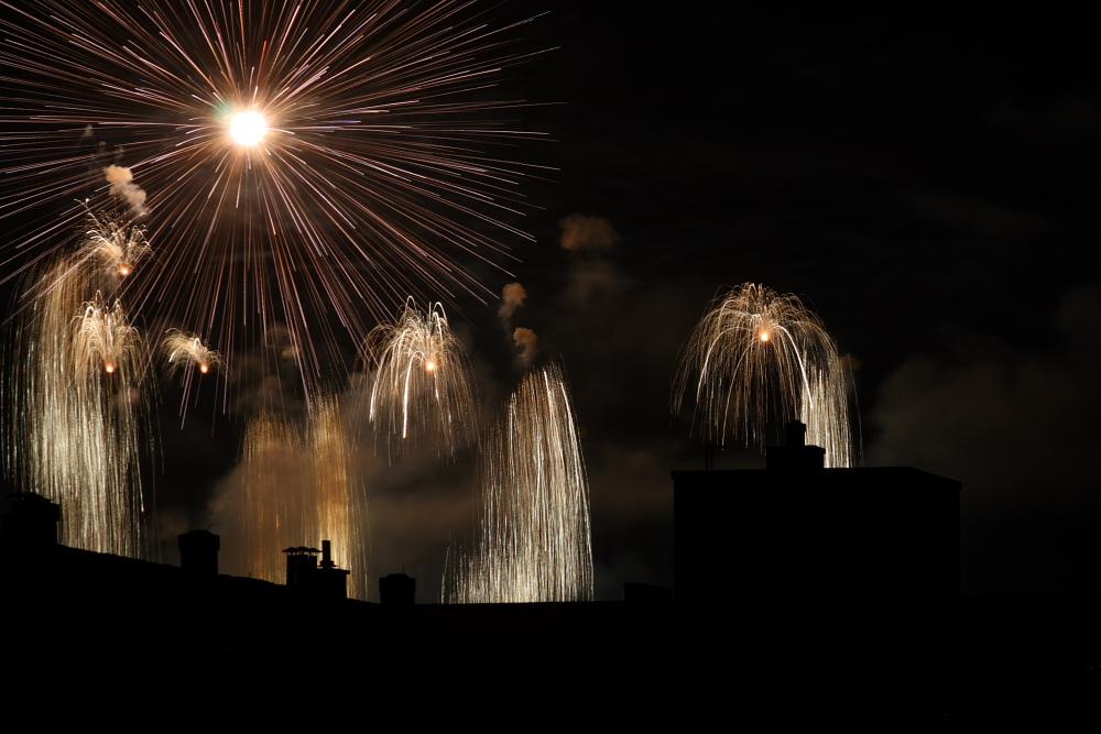 Feuerwerk am Züri Fäscht 2010